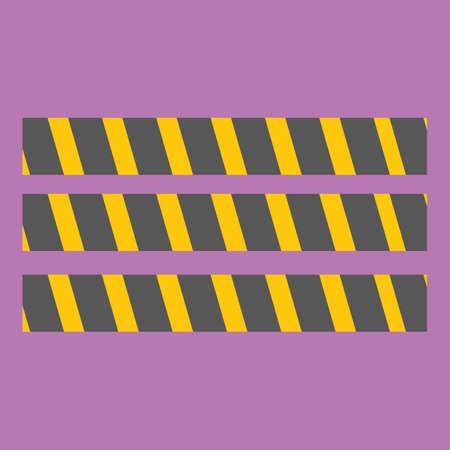 barricade: barricade tape Illustration