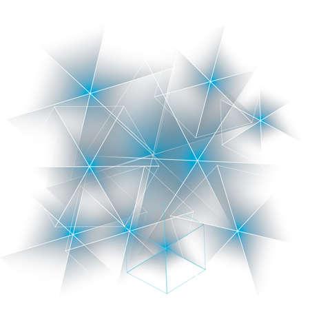 overlying: overlying star glossy background Illustration