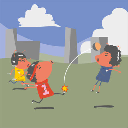 match: red ant in a football match Illustration