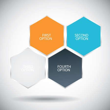 hexagonale infographic achtergrond Stock Illustratie