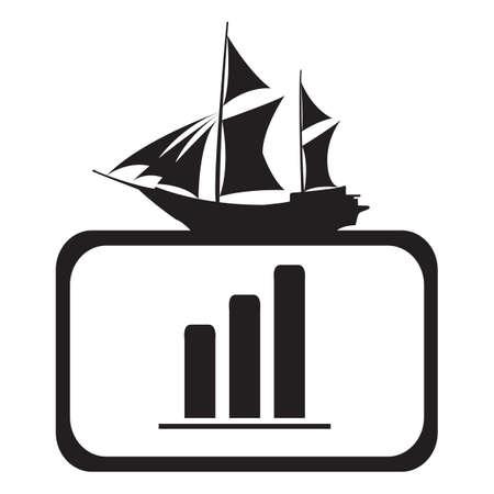 bar graph: frame with bar graph Illustration