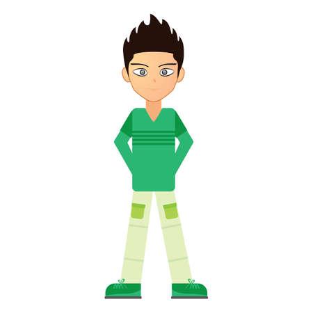 casual wear: boy in casual wear