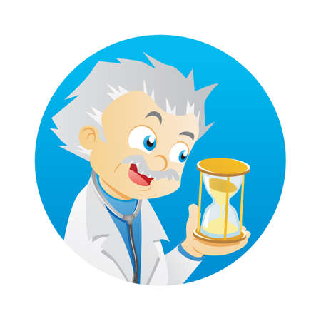 hour glass: doctor with hour glass Illustration