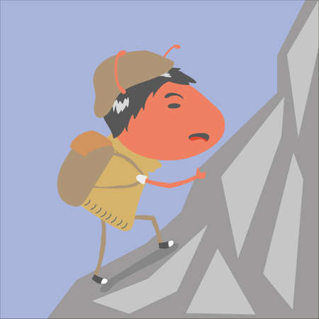 hiking: red ant hiking Illustration