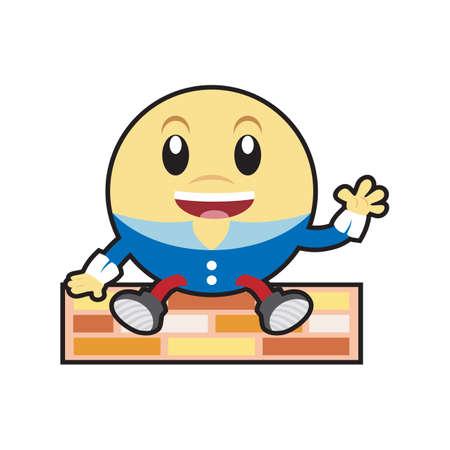 humpty dumpty: humpty dumpty laughing