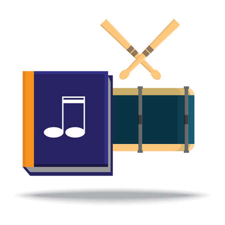 music book: music book and drum set