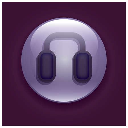 headset: headset button Illustration
