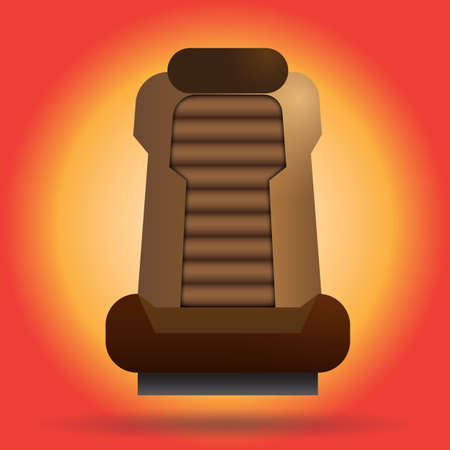 seat: car seat Illustration