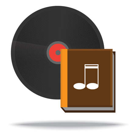 vinyl record: vinyl record and music book Illustration
