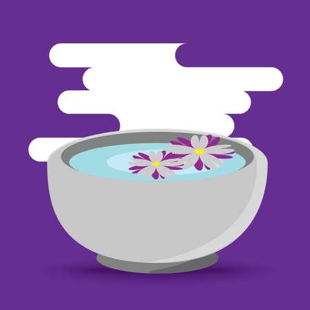 petals: flower petals in a bowl Illustration