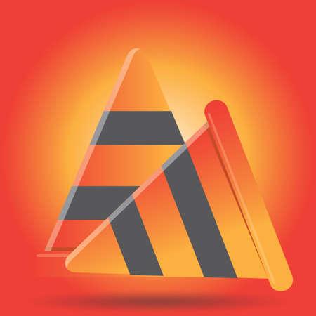 cautioning: traffic cones