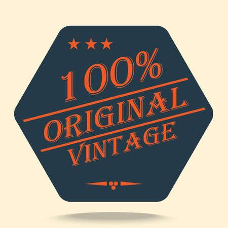 original: original vintage label