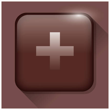 addition: addition button Illustration