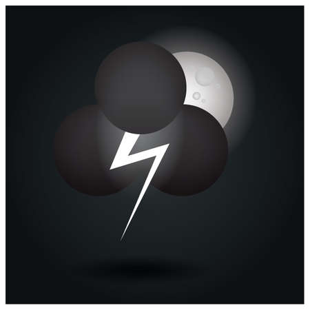 thunder cloud and moon
