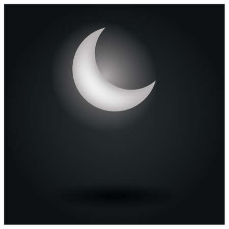 moon: crescent moon Illustration