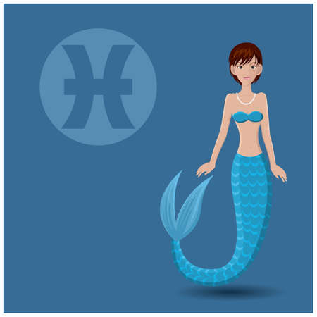 pisces: pisces horoscope Illustration