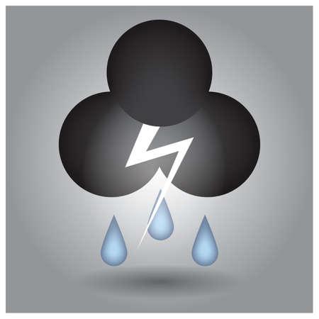 rain cloud: rain cloud and thunder