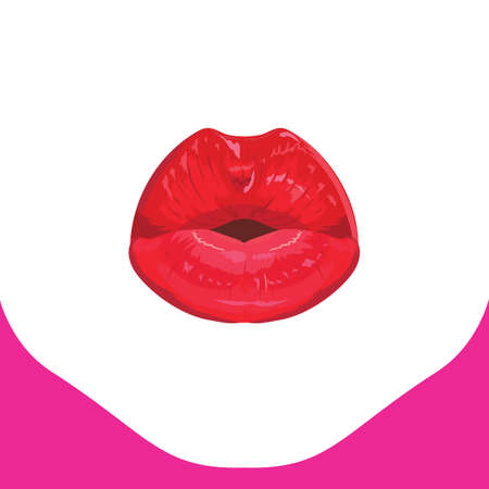 hot lips: hot red lips Illustration