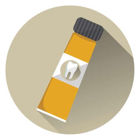 pasta dental: tubo de pasta de dientes Vectores