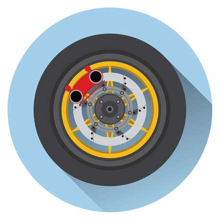 disk break: tyre