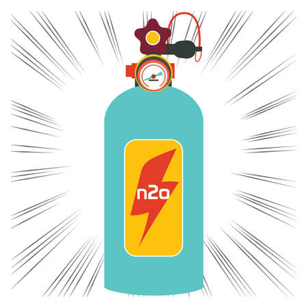 gas cylinder: nitrous oxide cylinder Illustration