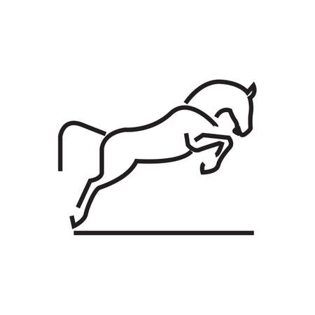 leaping: abstract horse icon