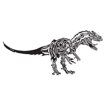 extinction: dinosaur tattoo design