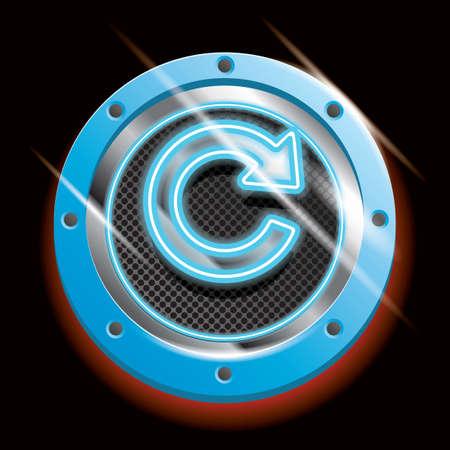 refrescar: botón de actualización