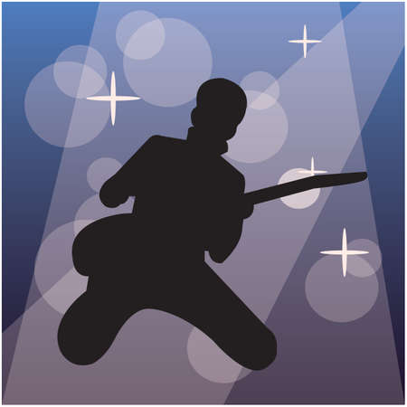 entertainers: silhouette of a electric guitarist