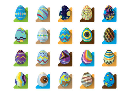 holiday celebrations: collection of easter eggs