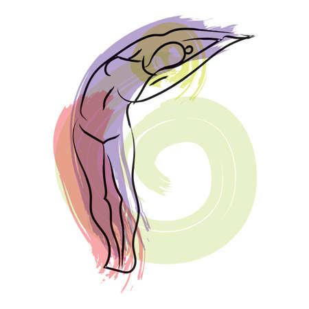 ardha: ardha chakrasana Illustration