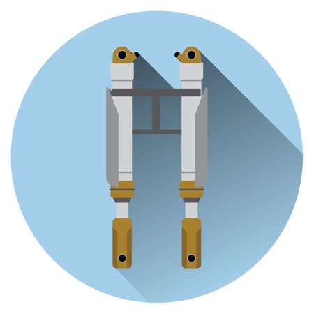 the silencer: car silencer Illustration
