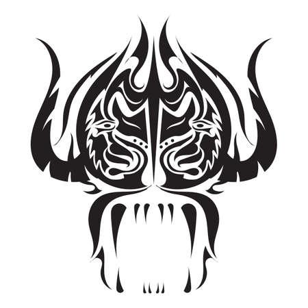 ox: ox tattoo design Illustration