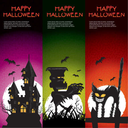 monsters house: happy halloween Illustration