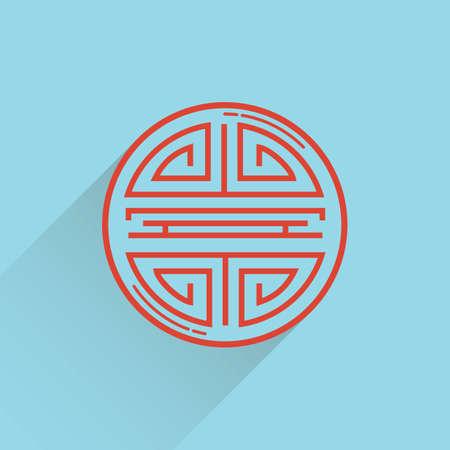 adornment: oriental chinese adornment pattern