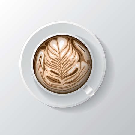 latte: heart shape flower latte art