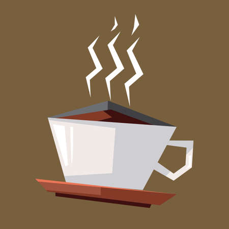 the hot: hot coffee in a cup
