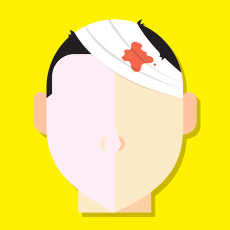 wounded: wound on head Illustration