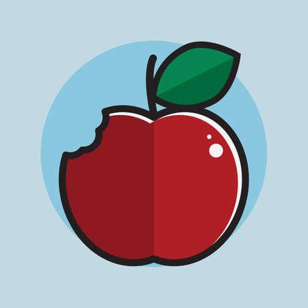 bitten: apple bitten concept Illustration