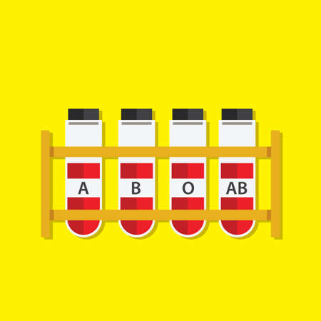 test tubes: test tubes with blood samples