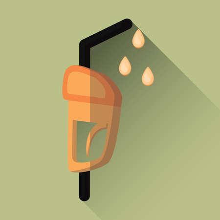 nozzle: gasoline fuel nozzle Illustration