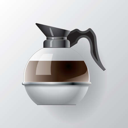 coffee maker: coffee maker jug Illustration