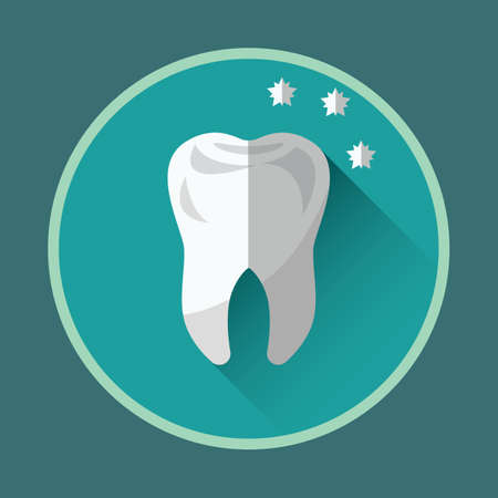 shiny: strong and shiny tooth Illustration