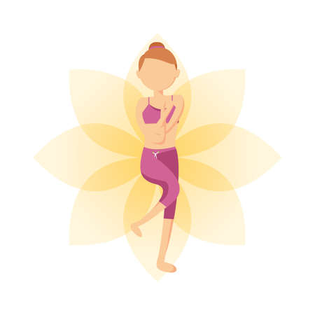 yoga asana tree pose: tree pose