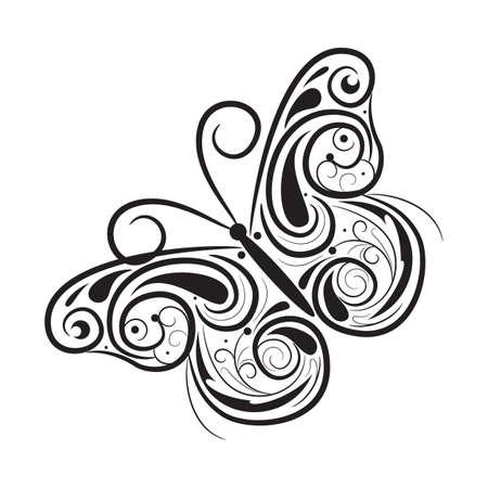 Conception de tatouage de papillon Banque d'images - 52792414