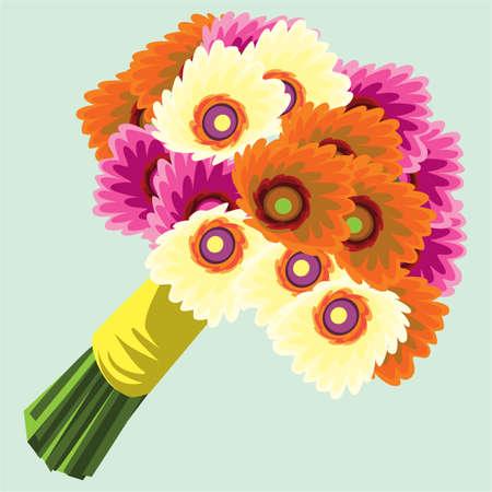 gerbera: a bouquet of gerbera flowers