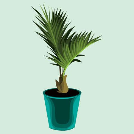 plant pot: decorative green plant pot Illustration