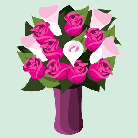 rose flowers in vase