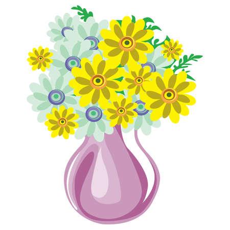 pastures: meadow yellow flowers in vase