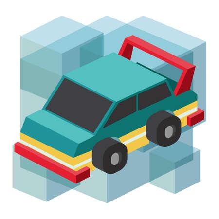 four wheeler: racing car Illustration